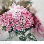 Hydrangea XI 2018 / 30x40cm / (22) / Watercolour by ©janinaB.