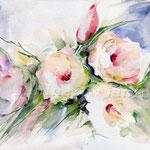 Rosenstrauß (10) / Watercolour 24x32cm / insp. Fabio Cembranelli