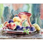 Stillleben mit Früchten (13) / Watercolour 20x30cm