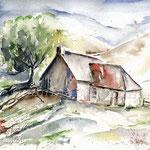 Landscape IV 2009 (2) / Watercolour 25x25cm  ©janinaB.