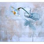 Stillleben mit Wasserglas und Narzisse (9) / Watercolour 30x40cm