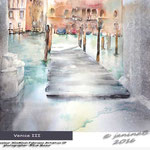 Venice III / Watercolour 30x40cm Fabriano Artistico CP © janinaB. 2016 photographer: ©Eve Mazur