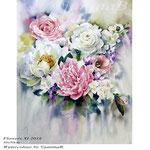 Flowers XI 2018 (T3) / 40x50cm / Watercolour by ©janinaB.