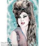 Amy W II 2018 (O5) / 15x23cm Watercolour by ©janinaB.