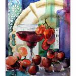 """""""Stillleben mit Wein"""" (7) / Watercolour 23x31cm"""