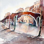 Venice IV (O3) / Watercolour 20x26cm  Arches CP ©janinaB.