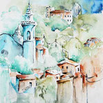 Landscape XIII 2009 (O6) / Watercolour 18x25cm © janinaB.