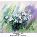 Snowdrops I 2018 (21) / 30x40cm Watercolour by ©janinaB.