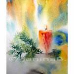 Kerze / Aquarell 24x34cm auf Vang © janinaB.