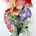 Abstract flower III 2010 (O4) / Watercolour 18x25cm