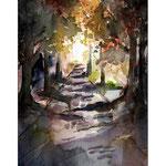 Landschaft 1 (O1) / Watercolour 18x24cm