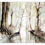 Frühling im Wald II (2) / Watercolour 30x40cm