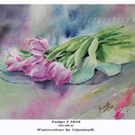 Tulips I 2018 (20) / 30x40cm Watercolour by ©janinaB.