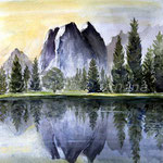 sea landscape I 2009 (3) / Watercolour 25x25cm  ©janinaB.