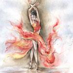 Tänzerin (13) / Watercolour 30x40cm
