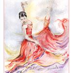 Flamenco (13) / Watercolour  30x40cm