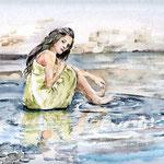 Rosie im Wasser (16) / Watercolour 24x32cm / insp Rosie Hardy