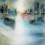 City I (O6) / Watercolour 16x20cm on Arches CP © janinaB. 2016