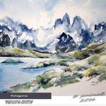 Patagonia / Watercolour 30x40cm  Fabriano CP © janinaB. 2016