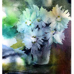 Flowers I 2017 / Watercolour 15x20cm on Arches CP © janinaB. 2017
