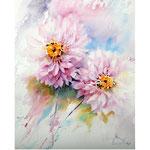 Dahlias I 2018 (20) / 30x40cm Watercolour by ©janinaB.