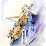 Vom Musik umgeben (12) / Watercolour 30x40cm
