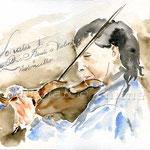 Violoncellist (12) / Watercolour 24x32cm