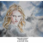 Emily Soto Portrait I (T3) / Aquarell 31x41cm auf Arches CP © janinaB. 2016