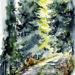 Landscape X 2010 (O2) / Watercolour 17x24cm © janinaB.