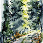 Landscape X 2010 (O6) / Watercolour 17x24cm © janinaB.
