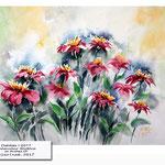 Dahlias I 2017 / Watercolour 30x40cm on Arches CP © janinaB. 2017