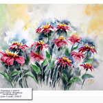 Dahlias I 2017 (14) / Watercolour 30x40cm on Arches CP © janinaB. 2017