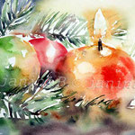 erste Advent (O1) / Watercolour 15x22cm