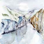 Geirangerfjord (O2) / Watercolour 18x25cm © janinaB.