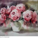Roses XVIII 2018 (20) / 30x40cm Watercolour by ©janinaB.