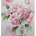 Peonies I 2017 / Watercolour 30x40cm on Arches CP © janinaB. 2017