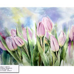 Tulips I 2017 / Watercolour 30x40cm on Arches HP © janinaB. 2017