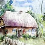Bauernhaus / Aquarell auf Arches satiniert 20x40cm