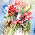 Flowers-IV-(5) / Watercolour 30x40cm / insp. Fabio Cembranelli