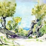 Landscape VII 2010 (17) / Watercolour 24x34cm © janinaB.