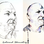 Leland Struebig (O2) / aquarellierte Tusche-Zeichnung DIN A4