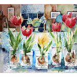 Stillleben mit Tulpen (7) / 23x32cm