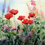 my magic garden I 2018 (21) / 30x40cm Watercolour by ©janinaB.