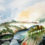 Landscape VIII 2016 / Watercolour 23x31cm on Arches GT © janinaB. 2016