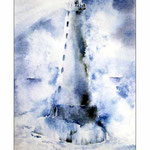 Leuchtturm (O6) / Watercolour 19x30cm