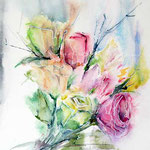 Blumen-I-2011-(1) / Watercolour 24x32cm