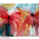 Poppies abstract I 2018 / 15x23cm / (O3) / Watercolour by ©janinaB.