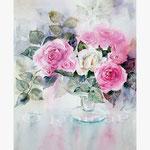 Rosen XVIII (T3) / Aquarell 30,5x45,5cm auf Fabriano © janinaB.