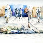 Schlafend im Venedig (16) / Watercolour 24x32cm