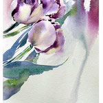 Impression flowers II 2017 (O1) / Watercolour 14x20cm on Fabriano CP © janinaB. 2017